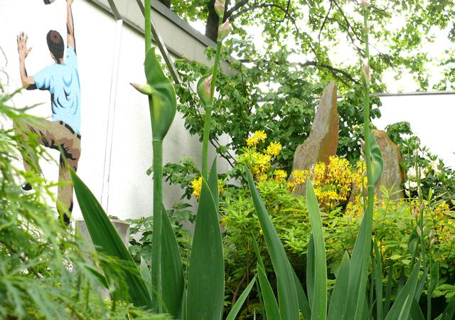 Kunst im Garten.